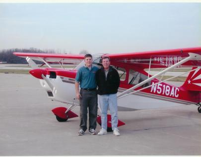 Me and the dad soon after my tailwheel endorsement. This was 2002, when I was just a youngin'.