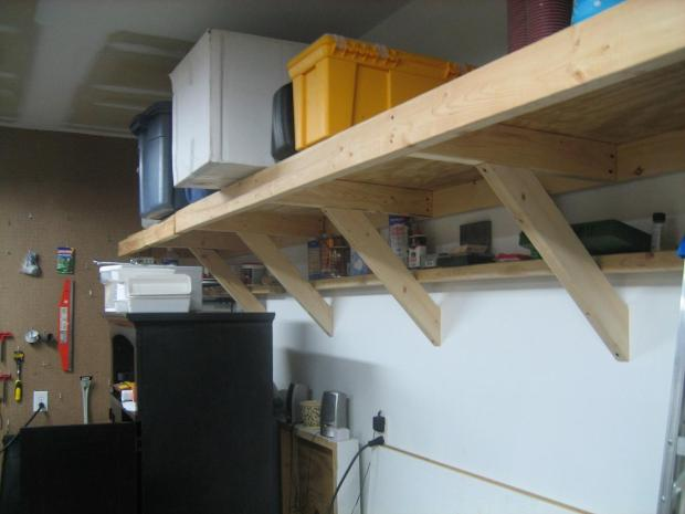 shelf plans garage walls