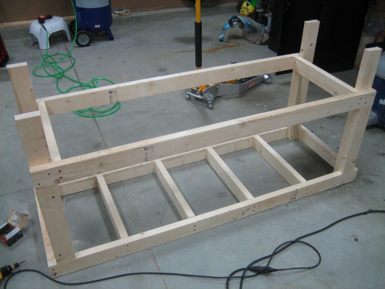 Wood 2x4 workbench plans pdf plans for Diy garage plans